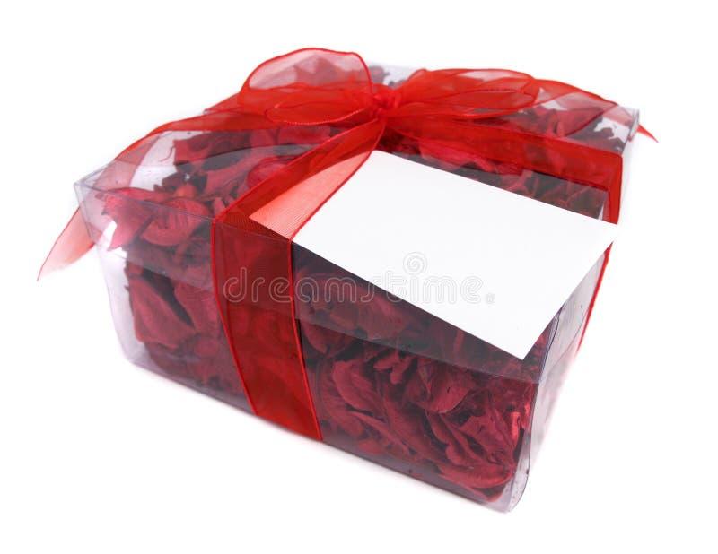 De rode gift van het Welriekend mengsel van gedroogde bloemen en kruiden royalty-vrije stock foto's