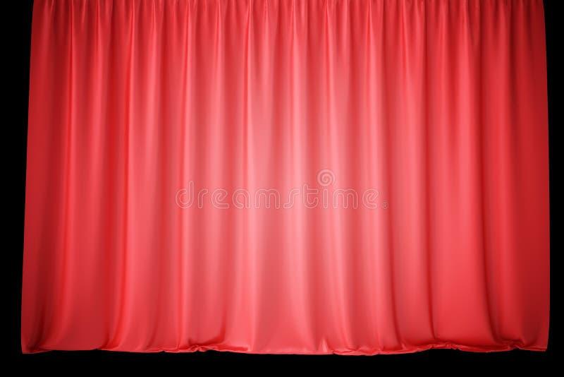 De Rode Gordijnen Van Het Fluweelstadium, Scharlaken Theatergordijn ...