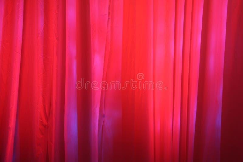 De rode Gordijnen van het Stadium royalty-vrije stock foto