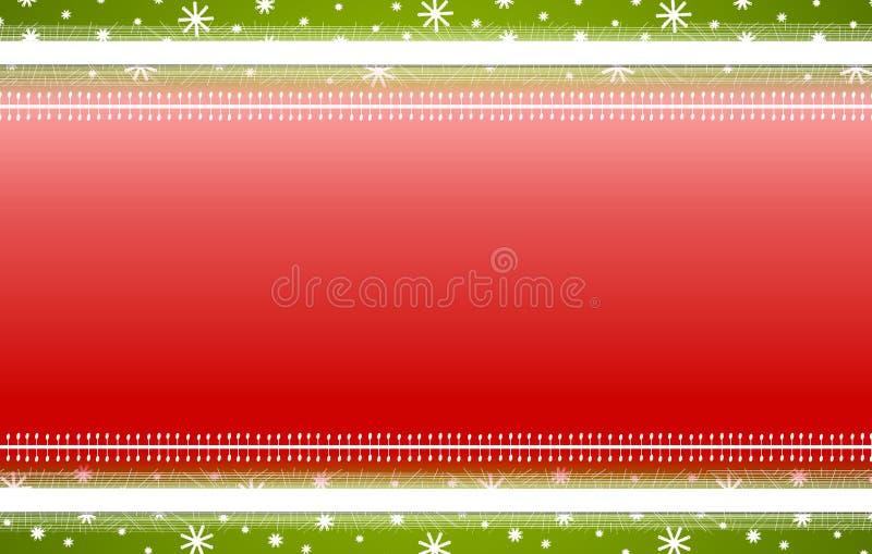 De rode Groene Achtergrond van Kerstmis van de Sneeuwvlokken van Strepen royalty-vrije illustratie