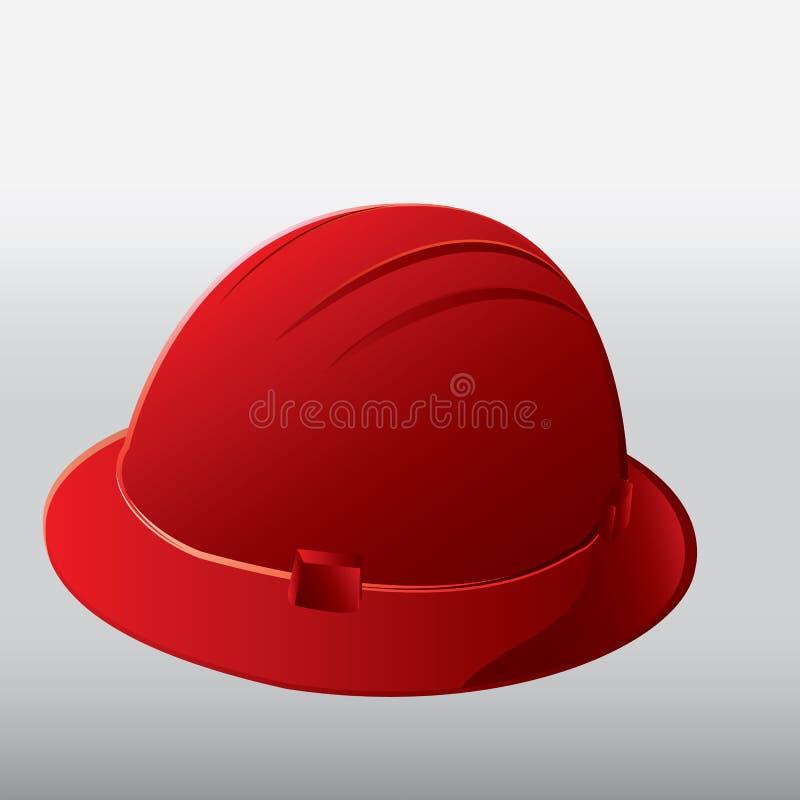 De rode helm van de Veiligheid stock foto