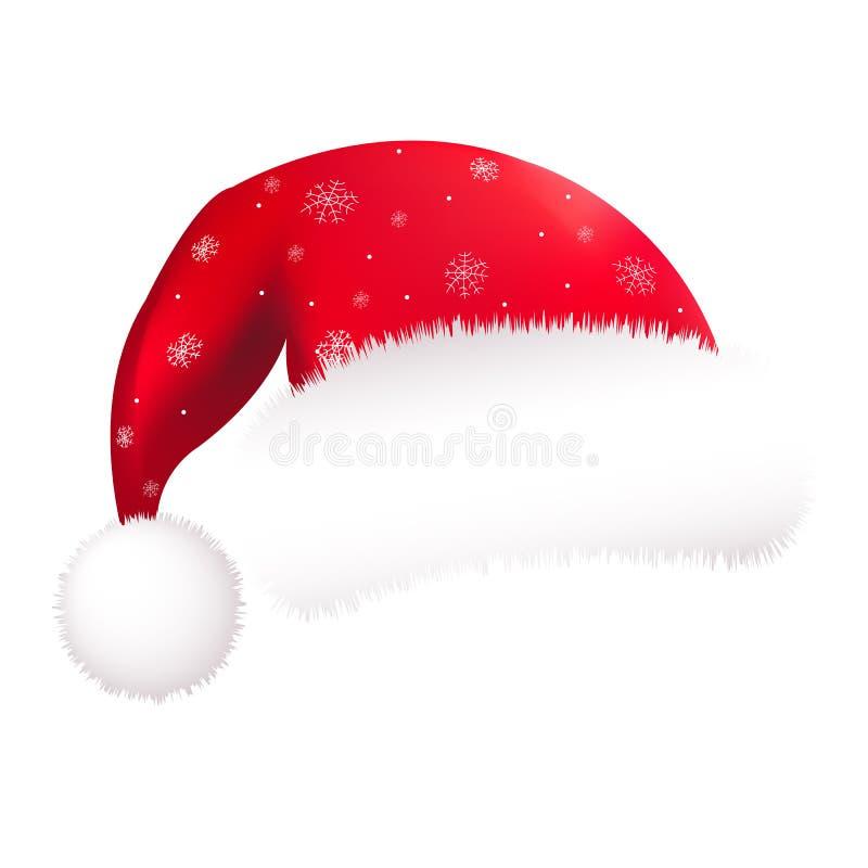 De rode Hoed van de Kerstman royalty-vrije illustratie