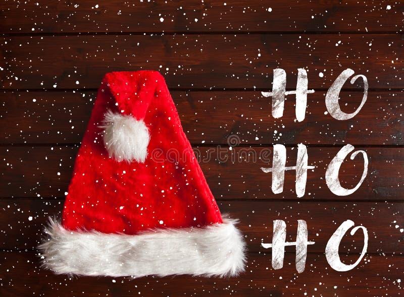 De rode hoed van de Kerstman royalty-vrije stock afbeeldingen