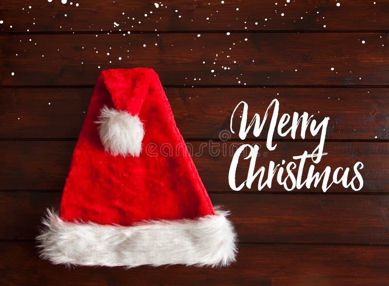 De rode hoed van de Kerstman royalty-vrije stock afbeelding