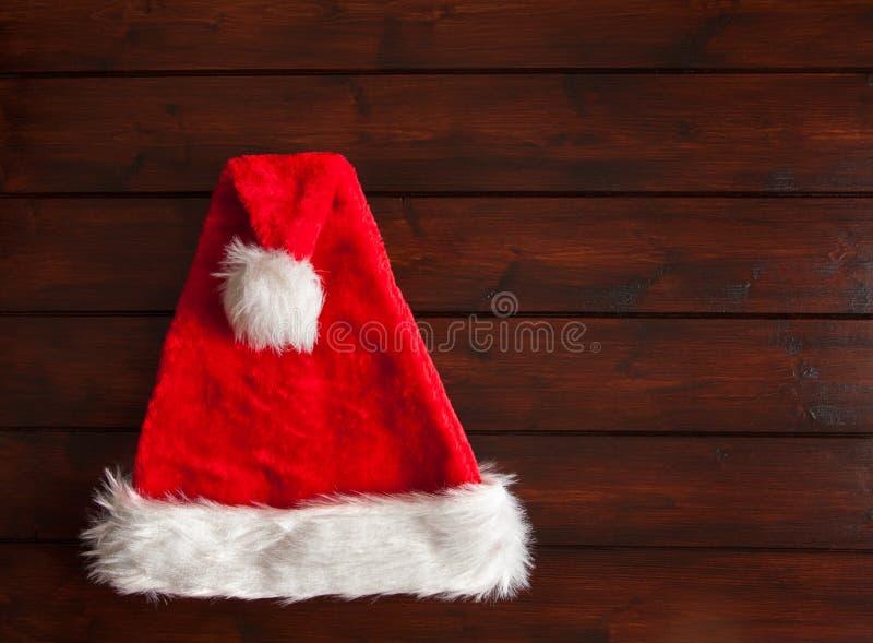 De rode hoed van de Kerstman royalty-vrije stock foto's