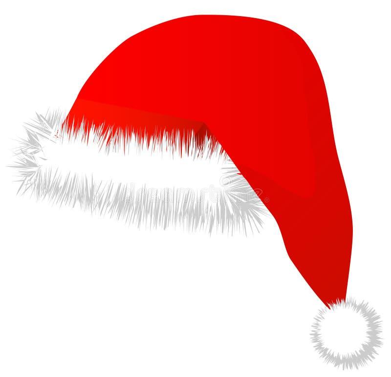 De rode hoed van de kerstman. Vector royalty-vrije illustratie