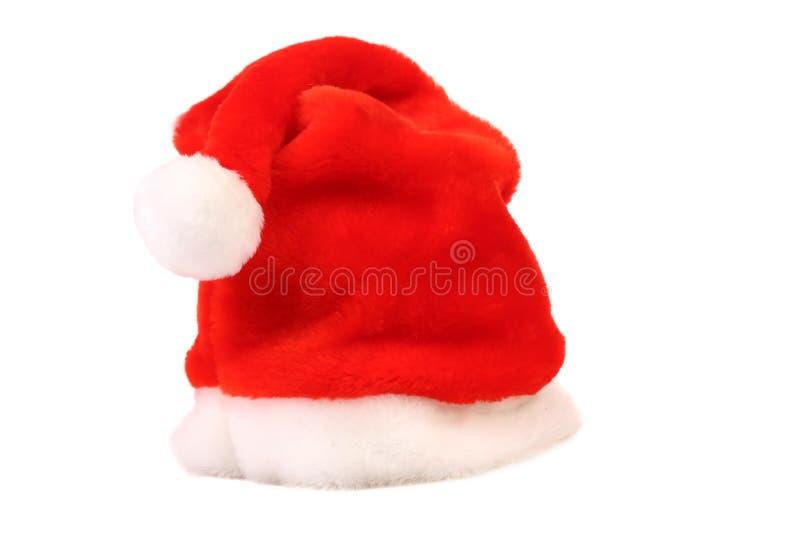 De rode hoed van Santa Claus. royalty-vrije stock fotografie