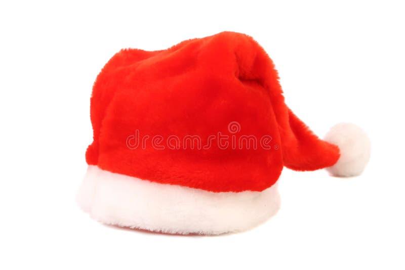 De rode hoed van Santa Claus. royalty-vrije stock afbeelding