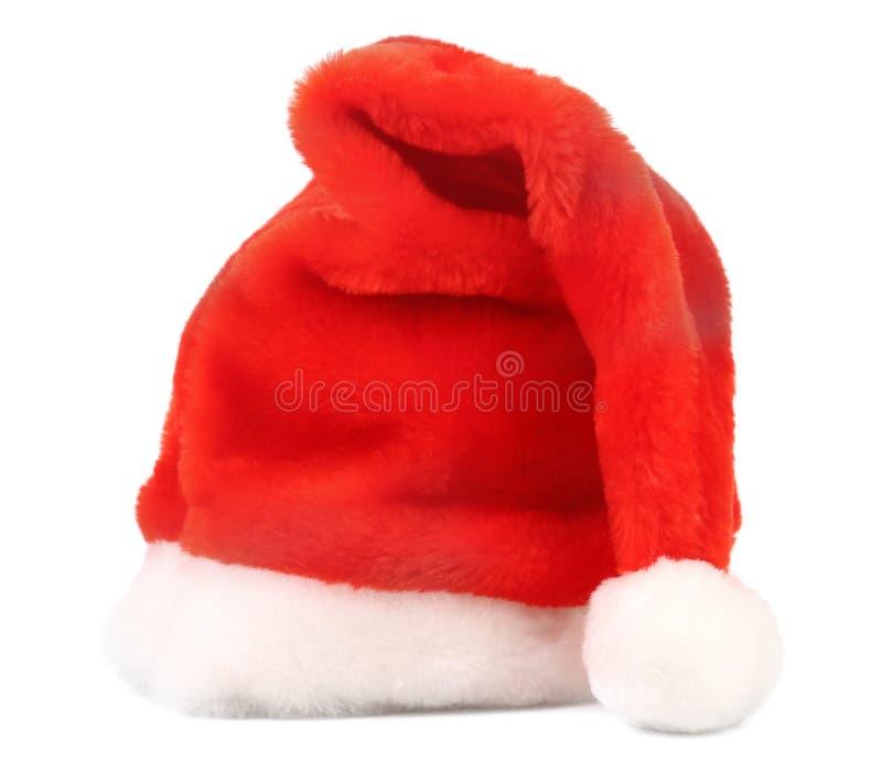 De rode hoed van Santa Claus stock foto's