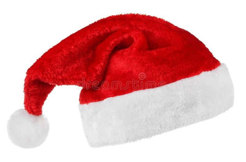 De rode hoed van Santa Claus stock afbeelding