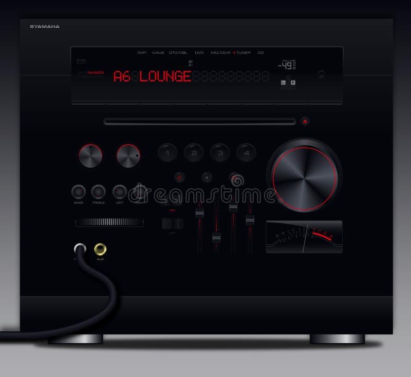 De rode Interface van de Versterker van de Ontvanger AV stock foto