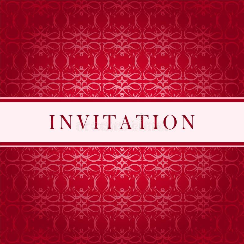 De rode kaart van de uitnodiging royalty-vrije illustratie