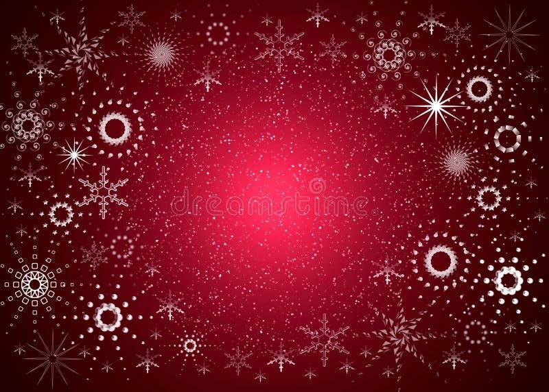 De rode kaart van Kerstmis royalty-vrije illustratie
