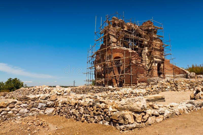 De rode Kerk stock afbeelding