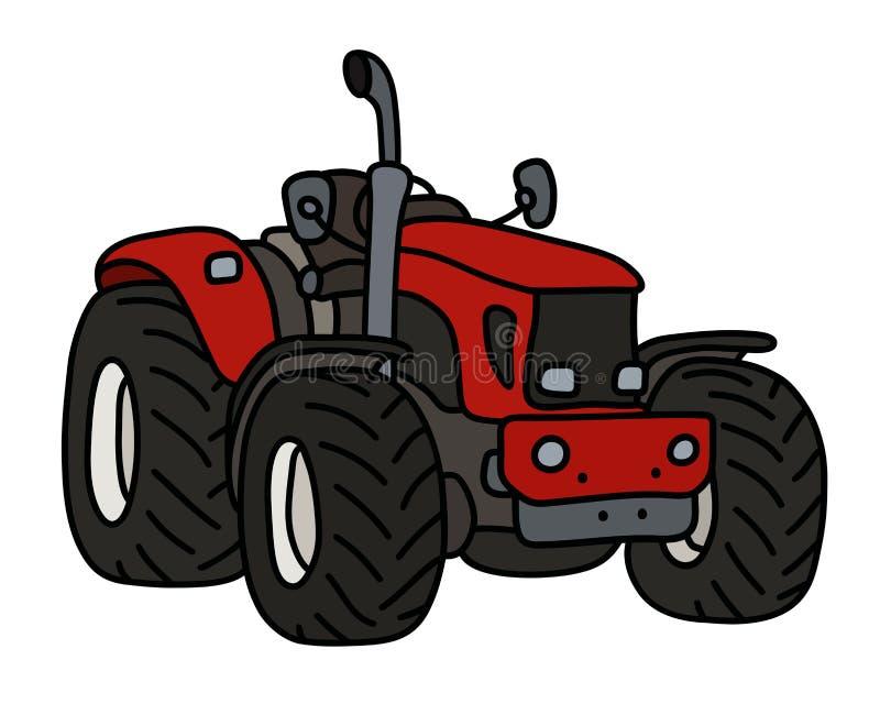 De rode kleine tractor vector illustratie