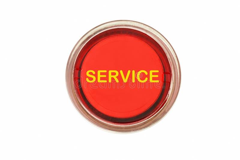 De rode knoop van de de dienstvraag royalty-vrije stock foto