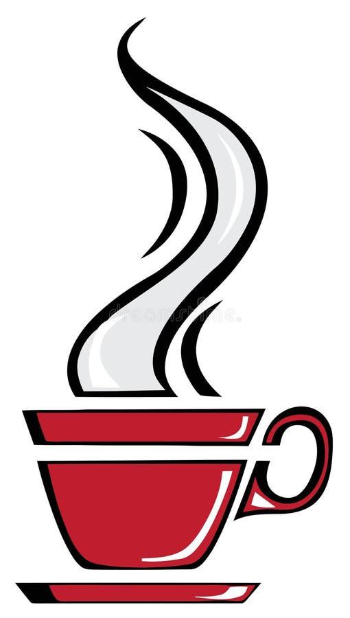 De rode kop van de Koffie royalty-vrije illustratie