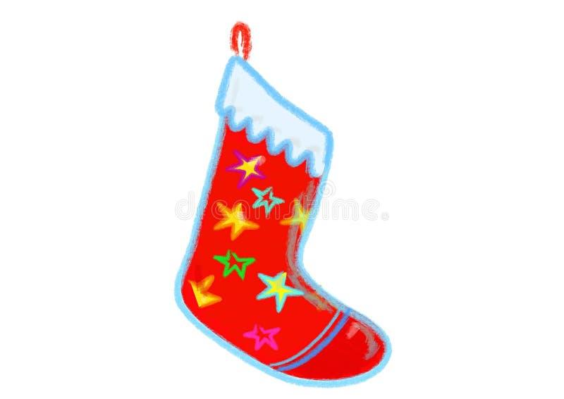 De rode kous van Kerstmis royalty-vrije stock fotografie