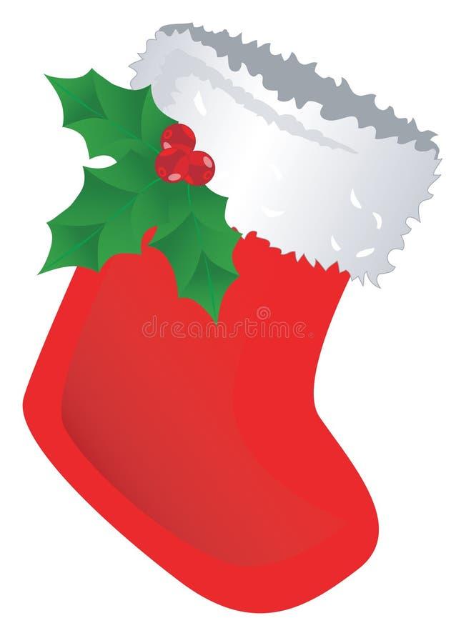 De rode Kous van Kerstmis royalty-vrije illustratie