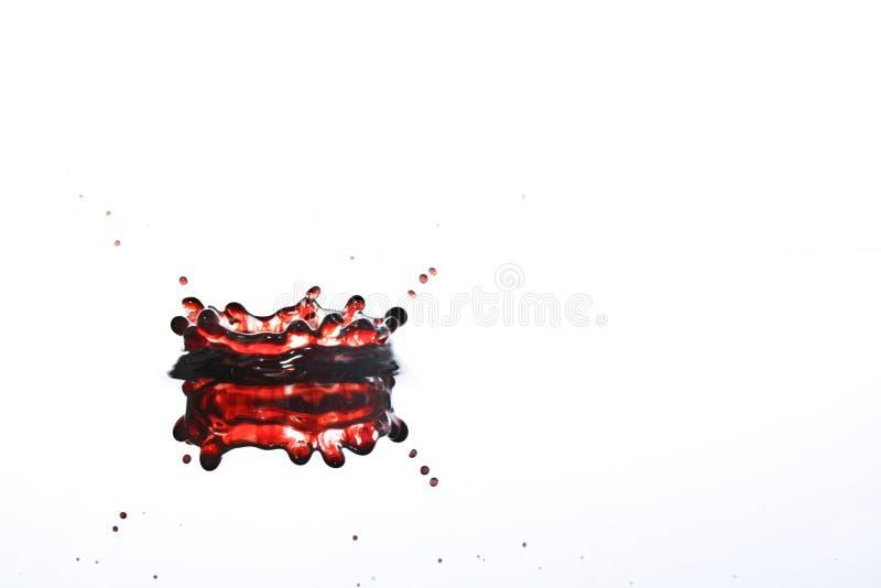 De rode Kroon van de Plons van het Water royalty-vrije stock afbeeldingen
