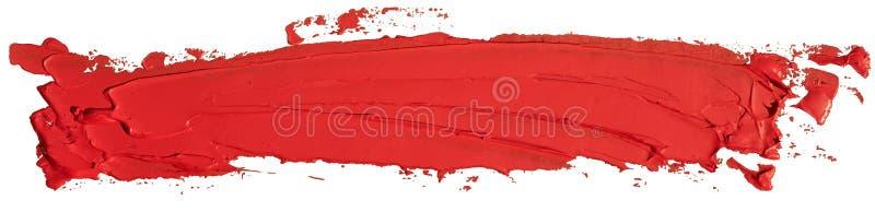 De rode kwaststreek van de de verfvlek van de olietextuur stock illustratie