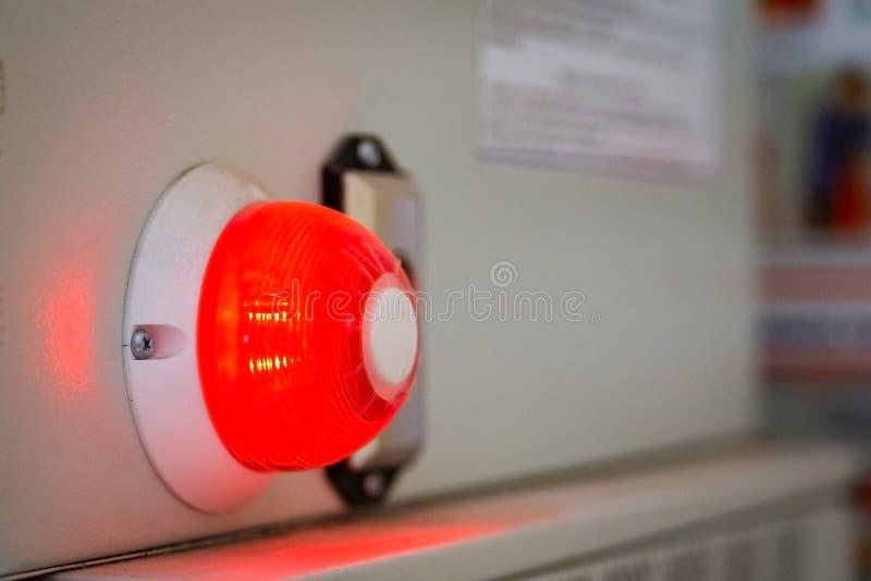 De rode lamp van de alarmwaarschuwing royalty-vrije stock foto's