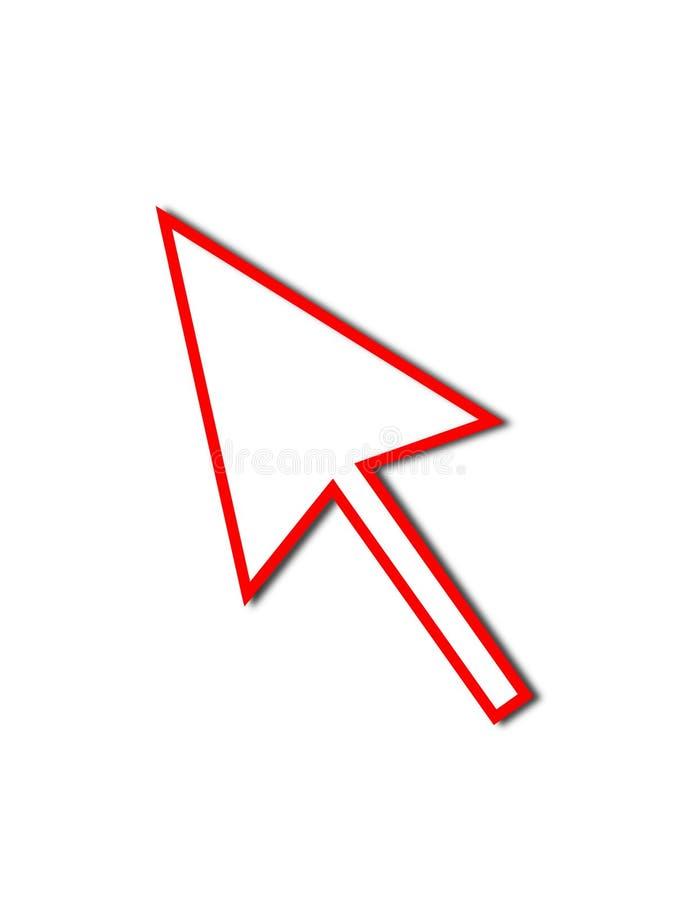 De Rode Lijn van de Muis van de Pijl van de curseur vector illustratie