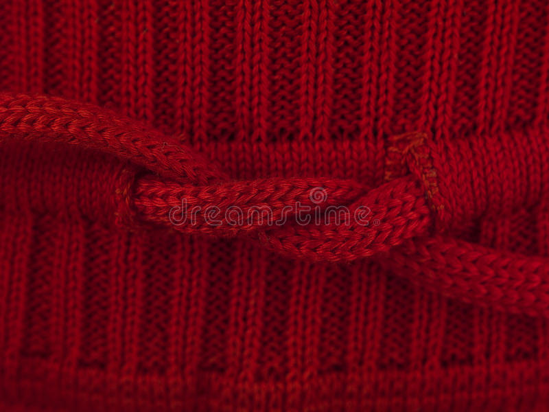 De rode macro van de boogsweater royalty-vrije stock foto