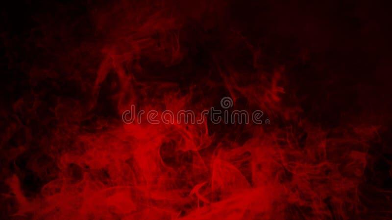 De rode mist of de rook isoleerde speciaal effect op de vloer rode troebelheid, mist of smogachtergrond royalty-vrije stock foto's
