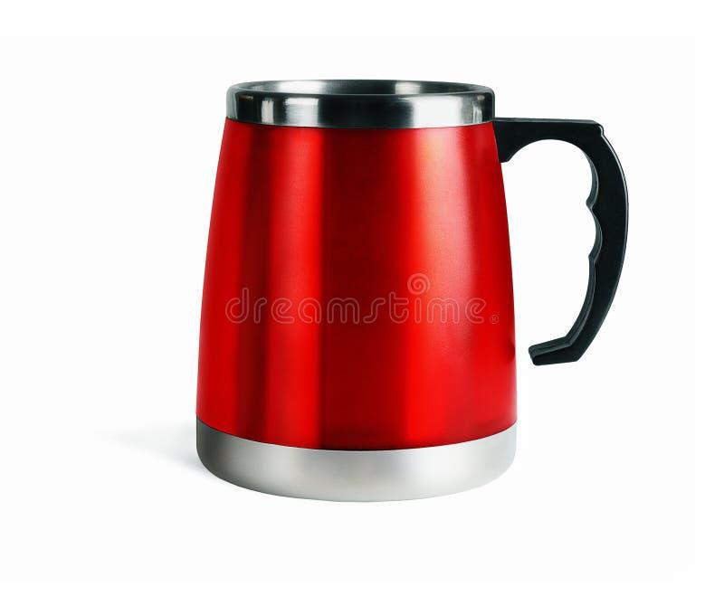 De rode Mok van de Koffie stock afbeeldingen
