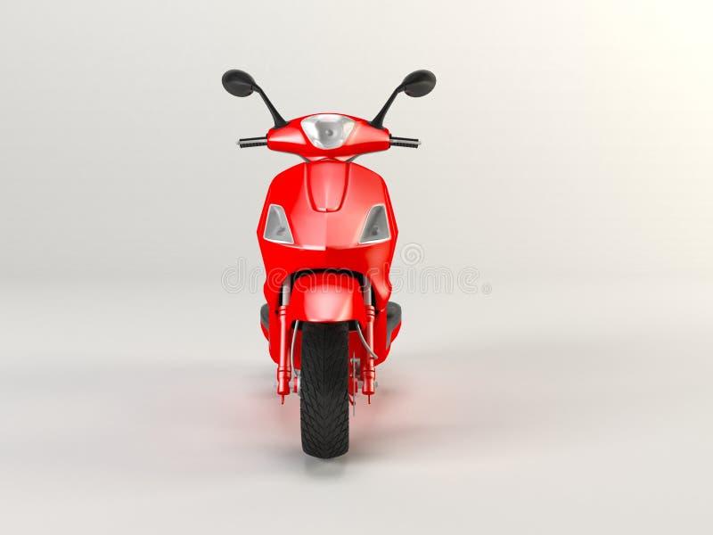 De rode motorfiets isoleerde 3d royalty-vrije stock afbeelding