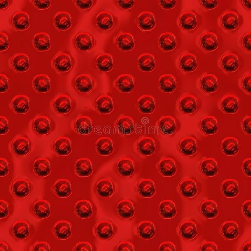 De rode Naadloze Textuur van de Metaalplaat royalty-vrije illustratie