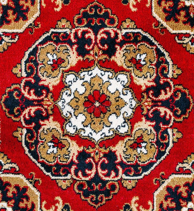 De rode Oosterse Achtergrond van de Tapijttextuur royalty-vrije stock foto