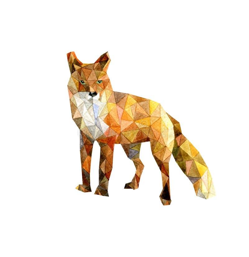 De rode oranje samenvatting van de voswaterverf royalty-vrije stock foto