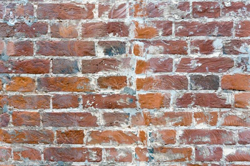 De rode oude versleten achtergrond van de bakstenen muurtextuur Uitstekend Effect stock foto