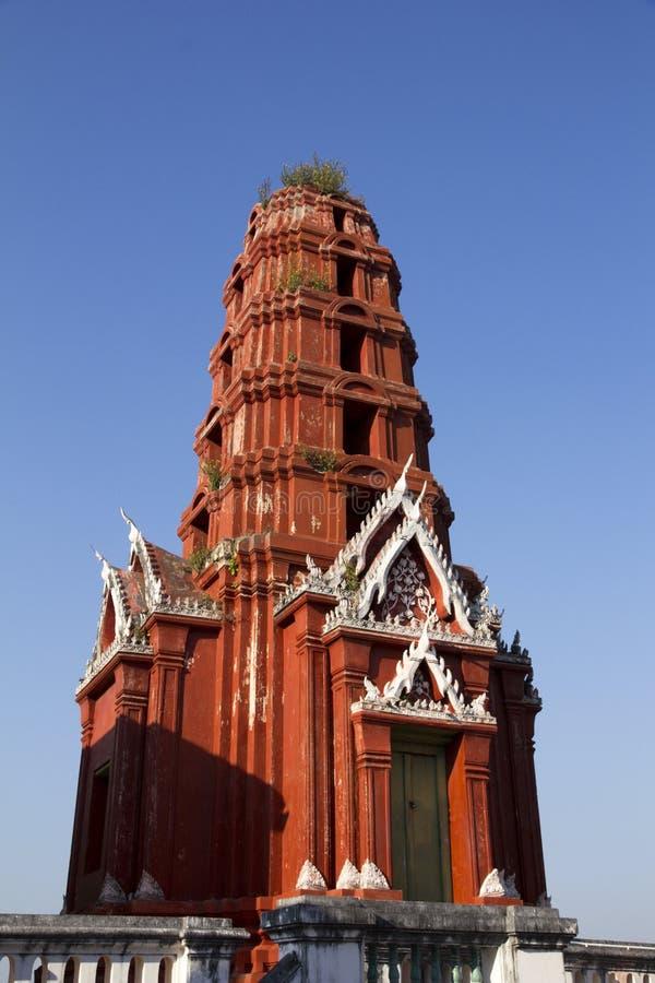 De rode pagode bij het historische park Khao Wang van Phra Nakhon Khiri royalty-vrije stock fotografie
