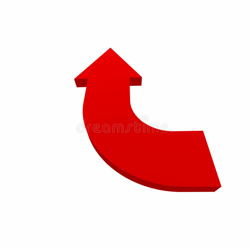 De rode pijl indexeert 03 vector illustratie