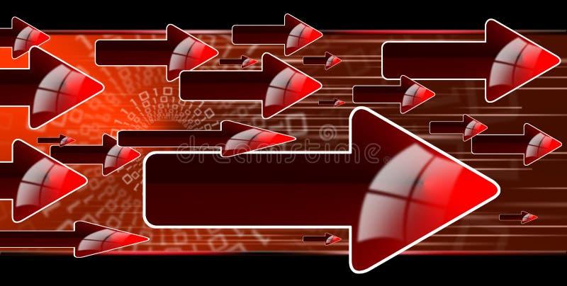 De rode pijlen van de stroom royalty-vrije illustratie