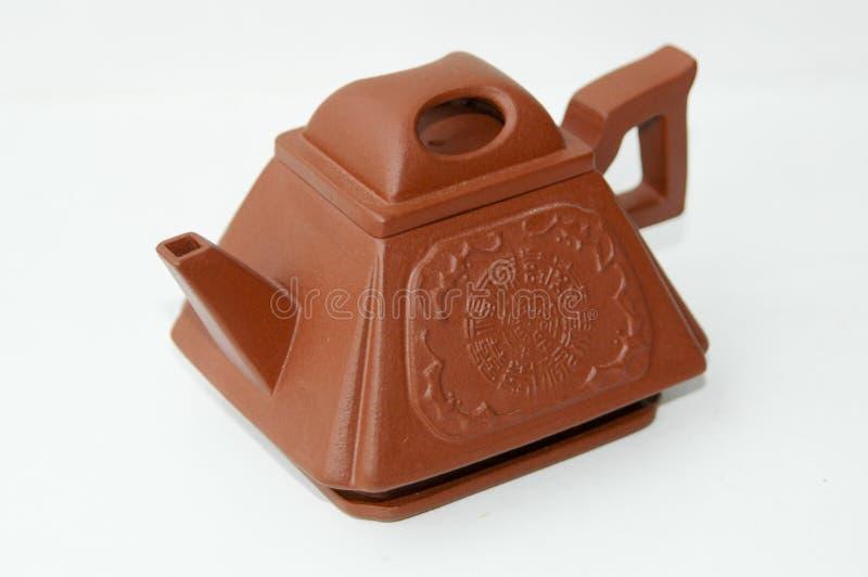 De rode pot van de klei Chinese thee stock afbeeldingen