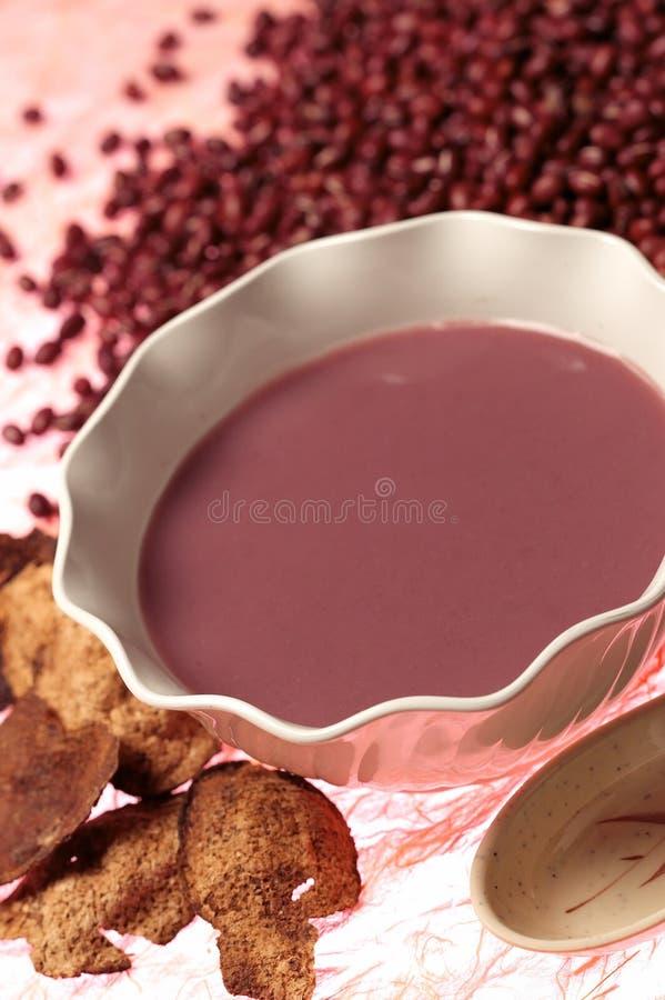 De rode Pudding van de Boon stock foto's