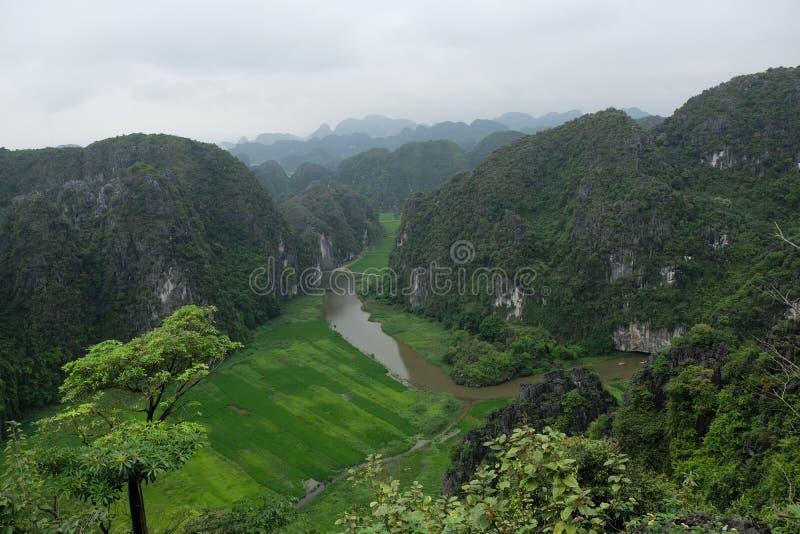 De Rode Rivier van Nihnbihn, Vietnam royalty-vrije stock fotografie