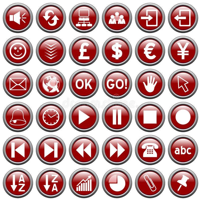 De rode Ronde Knopen van het Web [3] royalty-vrije illustratie