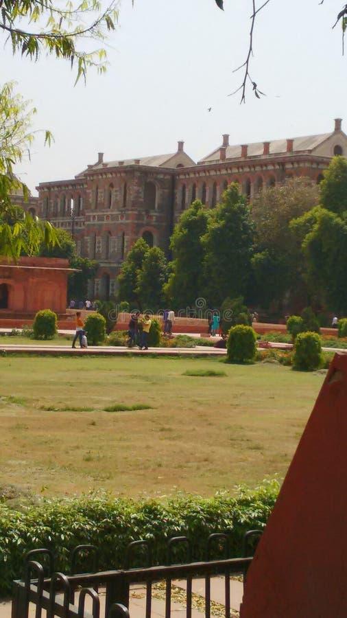 De rode scène van fort interne beautifuk royalty-vrije stock afbeelding