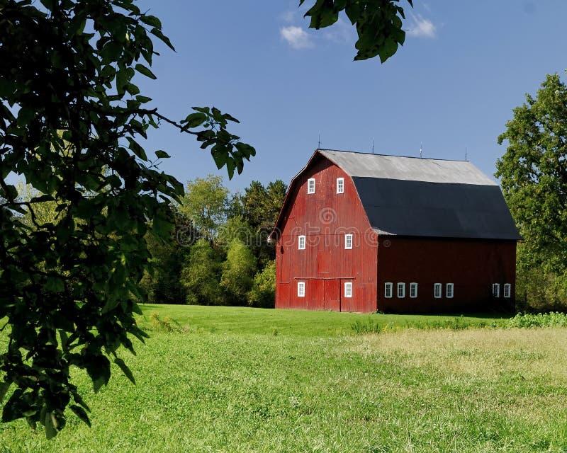 De rode schuur van Ohio stock foto's