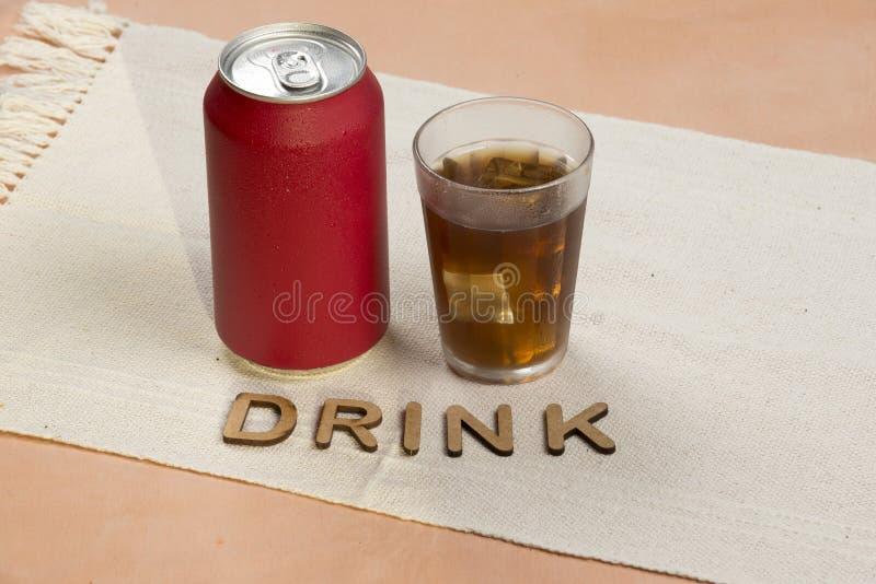 De rode soda kan royalty-vrije stock fotografie