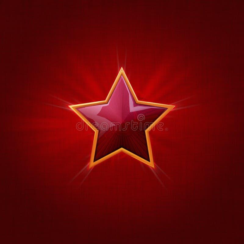 De Rode Ster van de Dag van de Overwinning van de USSR stock illustratie