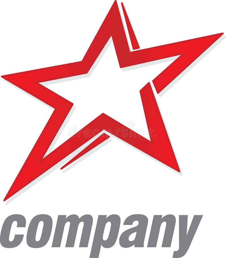 De rode ster van het embleem royalty-vrije illustratie