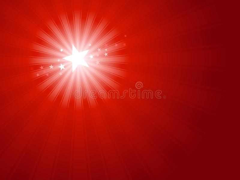 De rode Ster van Kerstmis stock illustratie