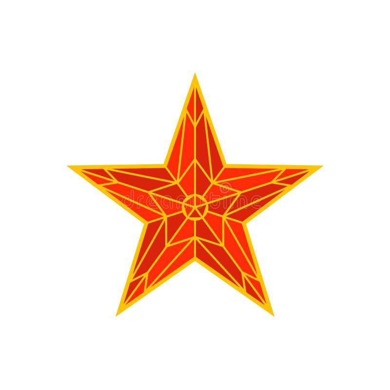 De rode ster van Moskou het Kremlin Spasskayatoren van het Kremlin op rood vierkant in Moskou, Rusland Russisch nationaal oriënta royalty-vrije illustratie