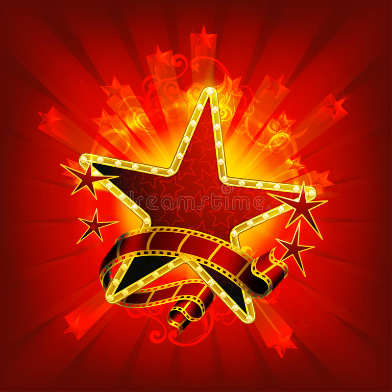 De rode sterren van de film, royalty-vrije illustratie